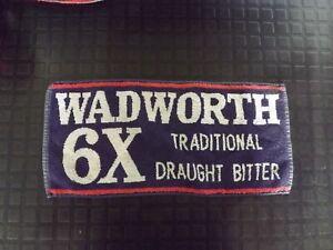 Vintage Wadworth 6X Bitter Bar Towel Pub Beer Mat