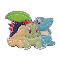 1x POKEMON chikorita cyndaquil totodile pin BROOCH super cute fast free UK p&p