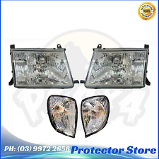 Set of Head Lights + Indicators to suit Toyota Landcruiser 100 Series 1998-2005