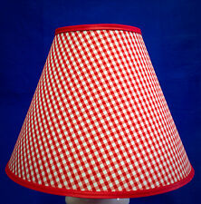 Red White Gingham Check Checks Lamp Shade Handmade Lampshade