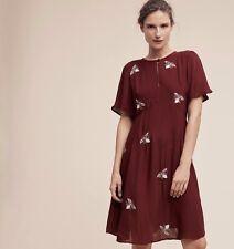1157 NEW $188 Moulinette Soeurs Anthropologie Beaded Firefly Dress 8 UK 12 EU 40