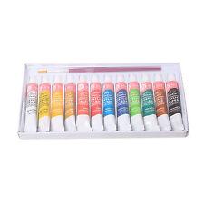 12 × 6ml Acrylic Different Color Peinture Acrylique Paint Tube Painting Tool Kit