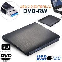 External USB 3.0 Slim Drive DVD RW CD RW Burner Copier Writer Reader Rewriter UK