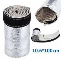 "1*Hose Metallic Heat Shield Sleeve 3.3Ft X 4.2"" Wire Hose Cover Wrap Loom Tube"