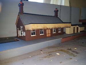 a collection of station buildings , platforms, etc see description