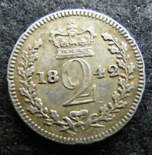 More details for victoria maundy twopence 1842 edge knocks vf b1 y253 #10