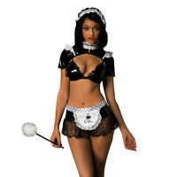 Sexy French Maid Costume Free Size 8-12 Bra Bolero Skirt Apron Headband Choker