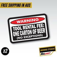 WARNING TOO RENTAL x2 JDM CAR STICKER DECAL Drift Turbo Euro Fast Vinyl #0608