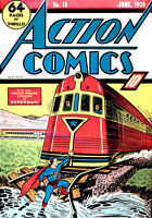 ACTION COMICS #13  June 1939 Classic train cover 4th Superman Cover *** CGC