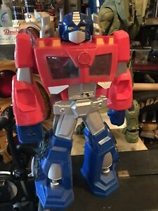 "Transformers Optimus Prime Playskool Heros 22"" Tall"