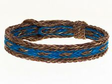 Horse Hair Bracelet One Size Fits All  Brown/Turquoise  WIDE