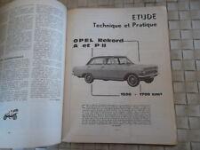 REVUE TECHNIQUE OPEL REKORD 1500 1700 TYPE A et PII P2