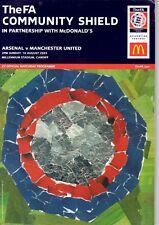 Arsenal v Manchester United programme, FA Community Shield, 2003