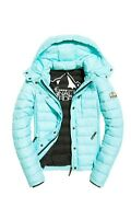 NEW RRP£84.99 LARGE SIZE WOMENS SUPERDRY FUJI SLIM DOUBLE ZIP HOODED JACKET BNWT