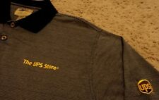 Men's ~ THE UPS STORE ~ Polo Golf Uniform Employee Work Shirt ~ Size Medium