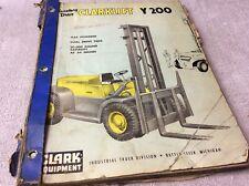 Clark Equipment Clarklift Y200 Parts Book Manual Forklift