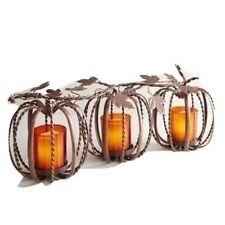 3 Twisted Vine Metal Pumpkin Tealight Candle Holders PIER 1 NEW