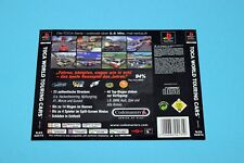 Playstation PS1 - TOCA WORLD TOURING CARS - Back Inlay Insert Cover Rückseite