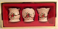 Lenox, Holiday Tartan Votives, Set of 3. Gift boxed set, Mint condition!