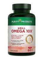 Krill Omega-3 10x more EPA & DHA Super Formula - Lemon-Lime Flavor