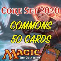 MTG Magic The Gathering Core Set 2020 M20 Job Lot 50 Common Cards NM/M
