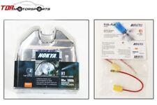 NOKYA H1 Cosmic White 5000K 80W Halogen Light Bulbs+Wire Harnesses