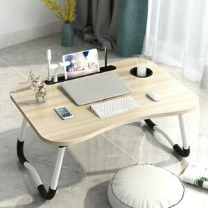 Computer Desk Bed Foldable Rechargeable With Lamp Usb Small Fan Lazy Table As
