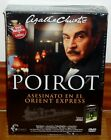 POIROT-MEURTRE EN EL ORIENT EXPRESS-AGATHA CHRISTIE-DVD+LIBRO ORIGINAL-NUEVO