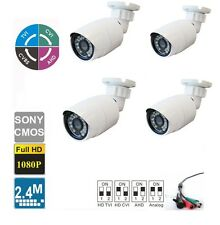 4pcs HD TVI/CVI/AHD/ANALOG 1080P  Small Bullet  Camera 2.4 MP  2.8mm Lens,