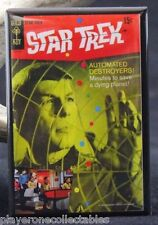 Star Trek Gold Key Comic Book #3 Fridge / Locker Magnet. Shatner Nimoy