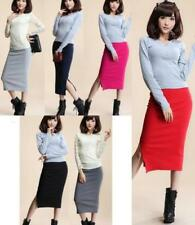 Cotton Knee-Length Straight, Pencil Skirts for Women