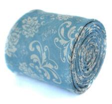 Thomas Frederick Uomo Cotone / Lino TIE in blu chiaro con motivo Paisley FT2074