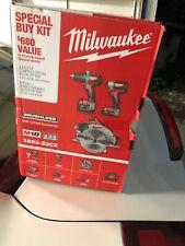 New Milwaukee M18 3-Tool Combo Kit 2893-23cx