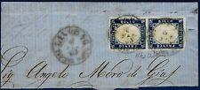 1863 - Frammento reso franco con coppia cent.15 (Sassone n.11ha) - Ballabio