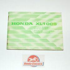 Honda 3643600 Manual Del Propietario Libro Manual XL100S Solo Cyl