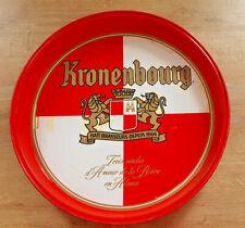 Ancien Plateau Métal Publicitaire Kronenbourg Bistrot Bar Collection Vintage