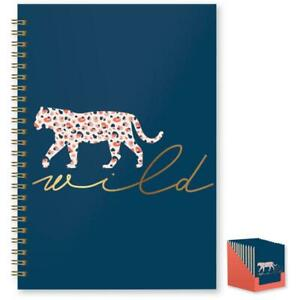 Wild Cat Leopard Tiger Design Spiralbound A5 Hard Cover Ruled Notebook