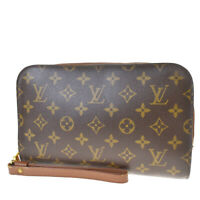 Auth LOUIS VUITTON Orsay Clutch Hand Bag Monogram Leather Brown M51790 39MF068