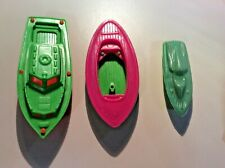 Vintage Lot of 3 Plastic Toy Boats
