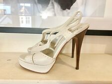 Yves Saint Laurent Cream Sandals