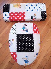 Mickey Minnie Mouse Pluto Donald Duck Disney Bathroom Toilet Seat Lid Cover Set