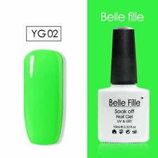 BELLE FILLE 10ml Neon Color UV Gel Nail Polish Lacquer Varnish Soak-off Manicure