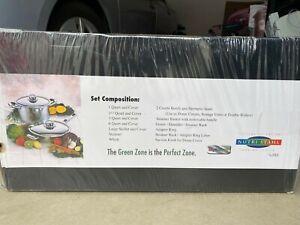 NUTRI STAHL Cooking System Kitchen Pots Pans Set 22 Piece Set New in Box