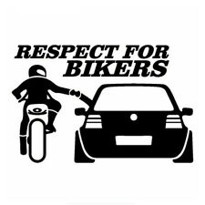 RESPECT FOR BIKERS Car Sticker 20*13cm Funny Decals Creative Window Waterproof