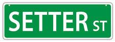 Plastic Street Signs: Setter Street (English, Gordon)   Dogs, Gifts