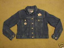 Girl's 16 Old Navy blue jean denim jacket rose