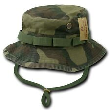 Woodland Camo Military Boonie Hunting Army Fishing Bucket Hat Rapid Dominance