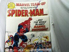 VINTAGE OFFICIAL SPIDERMAN MARVEL TEAM-UP POSTER, COPYRIGHT,1983, GREAT COLORS