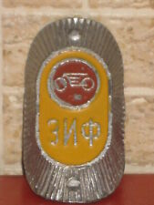 Emblem Bicycle Bike ZIF HEAD BADGE 1950s Plaque Old Russian Soviet Nameplate Tag