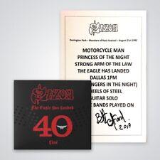 SAXON - The Eagle Has Landed 40 2CD DELUXE Set + signierte signed Setlist Wacken